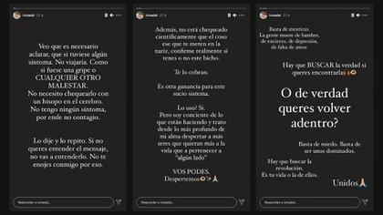 Las polémicas historias de Ivana Nadal en su cuenta de Instagram (@ivinadal)