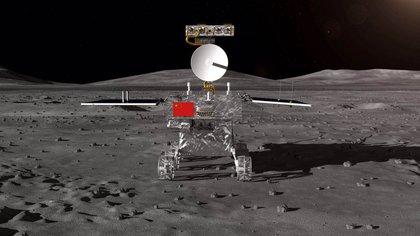 Un dibujo de la sonda china Chang'e-4, el primer objeto en llegar al lado oscuro de la Luna (CNSA)
