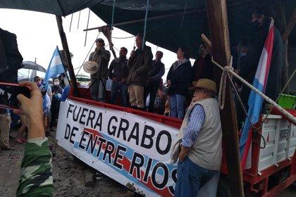 Ayer los ruralistas hicieron un banderazo en Casa Nueva