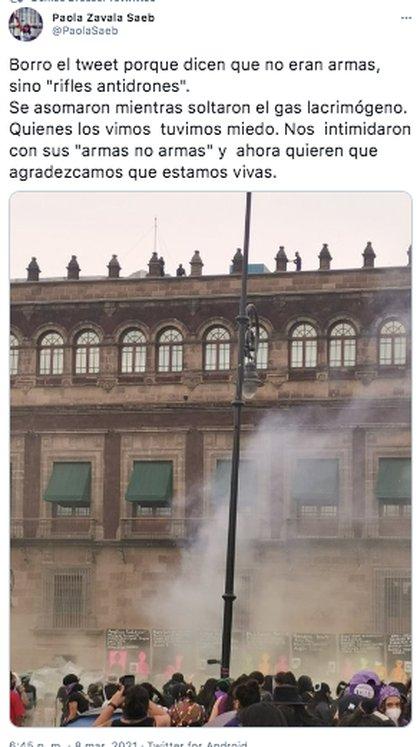 Manifestantes denunciaron intimidación ejercida por elementos del gobierno de México (Foto: captura de pantalla@SSC_CDMX)