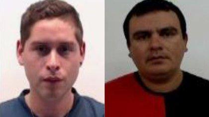 Giménez y Baralis, las dos víctimas del brutal descuartizamiento.