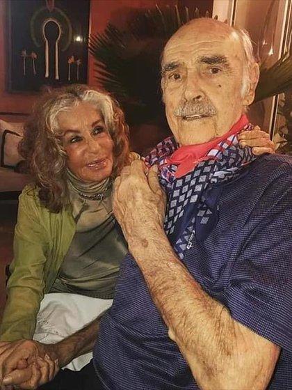 La pareja, en una de las últimas fotos divulgadas del actor