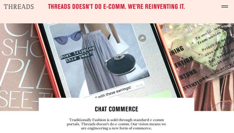 Threads nació en 2009 como una reinvención del e-commerce: el chat commerce.