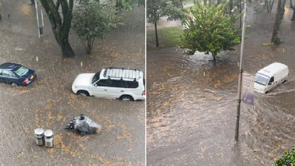 Floods presented in the Viceroy sector in Bogotá.  Photo: achavesc's Twitter.