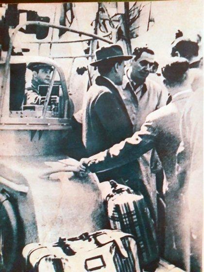 Perón, poco antes de partir hacia Paraguay