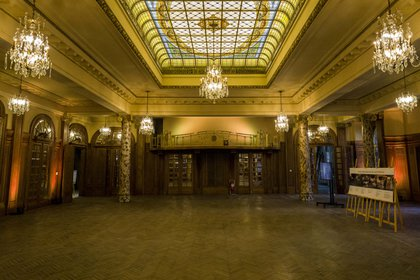 El salón principal de la confitería Del Molino después de su restauración (Guadalupe Alonso)