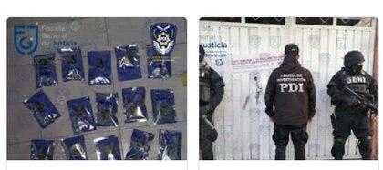 Ahí mismo en Tláhuac se les encontró con dosis de cocaína y cristal Foto: (FGJCDMX)
