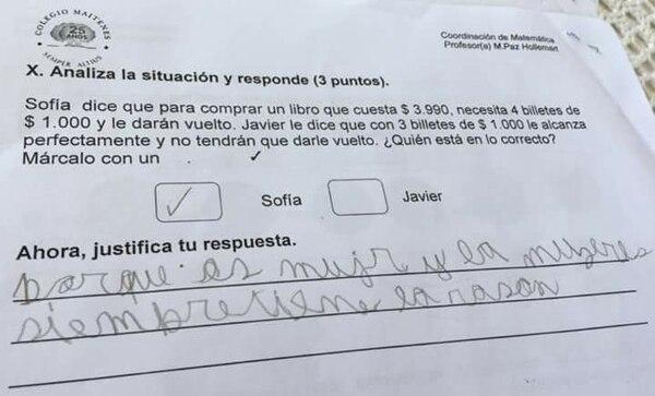 La insólita respuesta de un niño a un sencillo problema de matemática