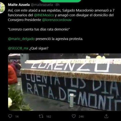 (Captura de Pantalla/Twitter@maiteazuela)