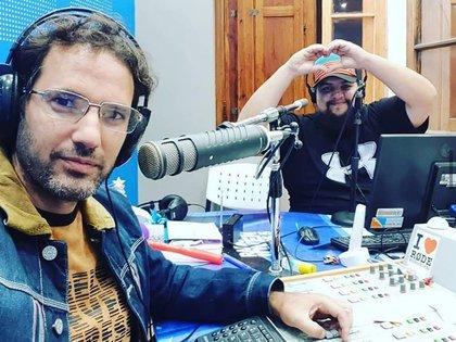 Pablo González Sol y Nahuel Vallejos en el programa de radio