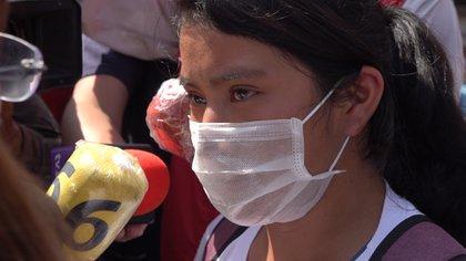Su mamá viajó desde Chiapas para solicitar ayuda al presidente. (Foto: Infobae)
