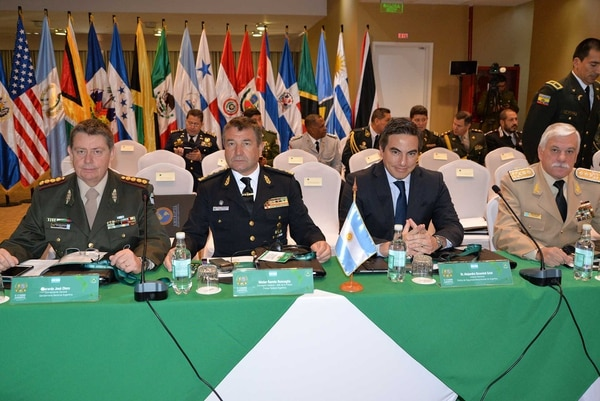 Otero en la última cumbre de Ameripol. Foto: gentileza GN