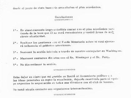 Las conclusiones de Quijano sobre su misión en Washington