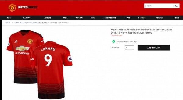 """Lakaku"", el error en la camiseta del Manchester United de Romelu Lukaku"