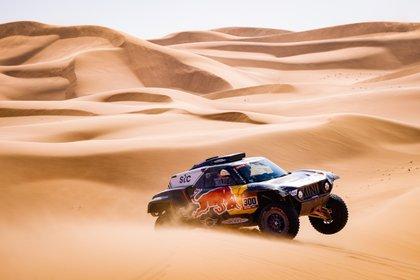 El español Carlos Sainz (X-Raid Mini JCW), en la cuarta etapa del Dakar. EFE/EPA/Frederic Le Floch HANDOUT via ASO