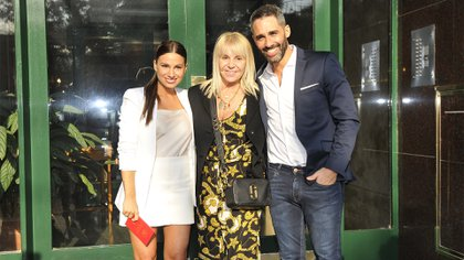 Estefanía Russo, Claudia Villafañe y El Pollo Álvarez