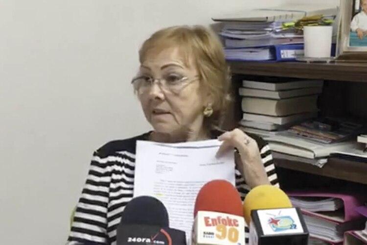 LeJuez declaró a la prensa el 30 abril de 2018 sobre el caso de los 50 kilos registrados a nombre de Oro Azul (Captura video 24ora.com)