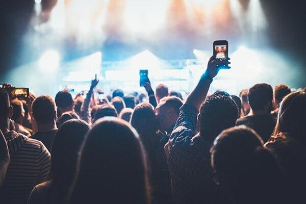 Conciertos y smartphones