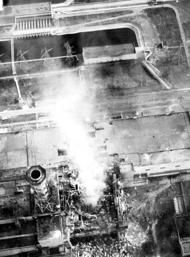 La explosión en Chernobyl
