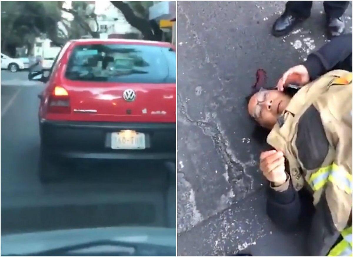 Conductor atropelló a motociclista en Ciudad de México