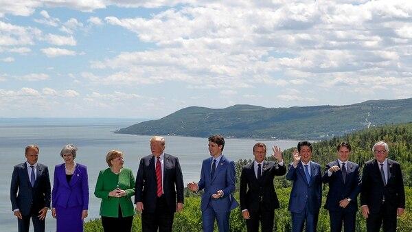La foto oficial del G7 en Quebec