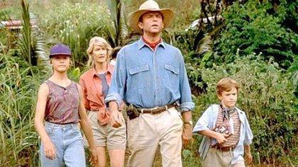 Ariana Richards, Laura Dern, Sam Neill y Joe Mazzello, protagonistas de la primera película de la saga de Jurassic Park