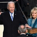 U.S. President-elect Joe Biden is sworn in as the 46th U.S. President, at the U.S. Capitol in Washington, U.S., January 20, 2021. Saul Loeb/Pool via REUTERS