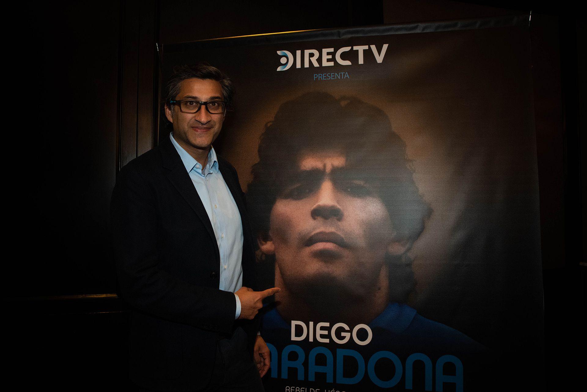 "Asif Kapadia, director del documental ""Diego Maradona"" (Foto: Franco Fafasuli)"