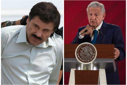 López Obrador y Joaquín El Chapo Guzmán. (Foto: Cuartoscuro)