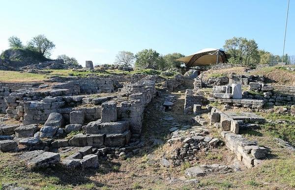 Las ruinas de la supuesta ciudad de Troya, en Canakkale, Turquía