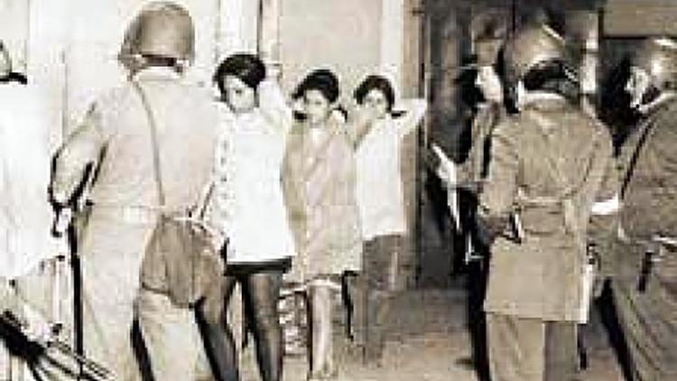 Jóvenes detenidos por las Fuerzas Armadas durante la dictadura militar de Augusto Pinochet