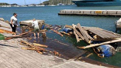 El incidente ocurrió cuando salía de Simpson Bay Lagoon