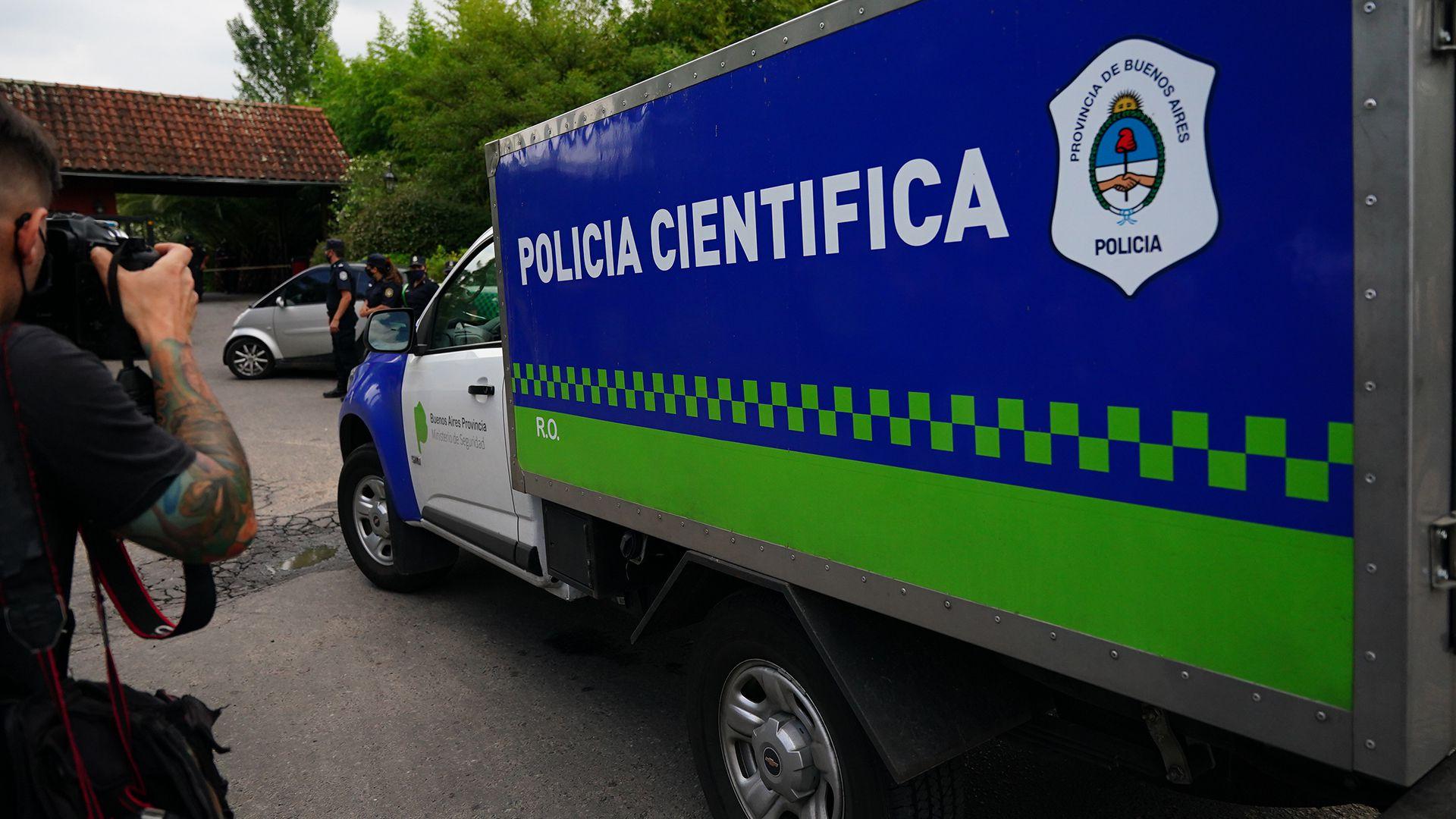 Muerte Maradona policia cientifica en country