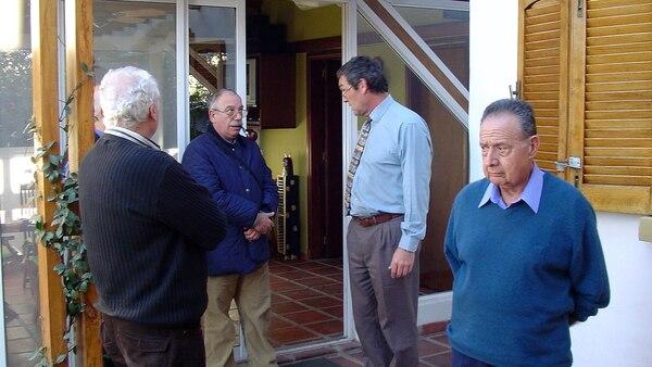 Raúl Torre y Osvaldo Raffo en la escena del crimen