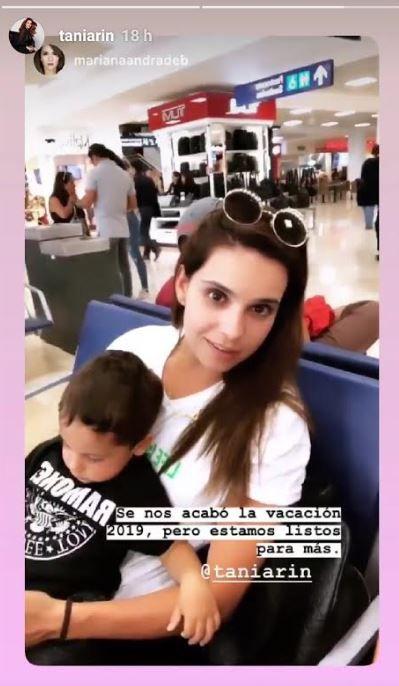 Tania Rincón informó que sus vacaciones ya terminaron (Foto: Instagram)