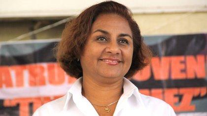 La actual alcaldesa de Manzanillo, Griselda Martínez sufrió un atentado en julio de 2019 (Foto: Twitter @berthareynoso)