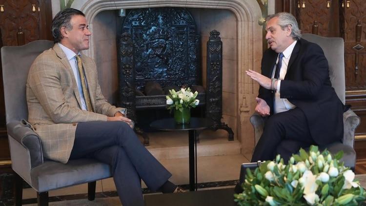 Alberto Fernández y Daniel Rafecas durante su encuentro en la Casa Rosada, cuando se anunció su nominación como titular de la Procuración General de la Nación