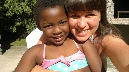 Samantha conserva el mismo nombre que le pusieron sus progenitores en Haití