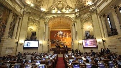 Plenaria del congreso, con sus dos cámaras.  Cortesía Congreso de Colombia 2020.