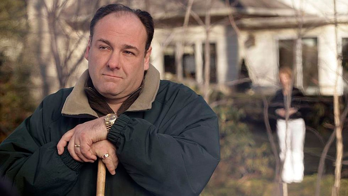 James Gandolfini en su papel de Tony Soprano