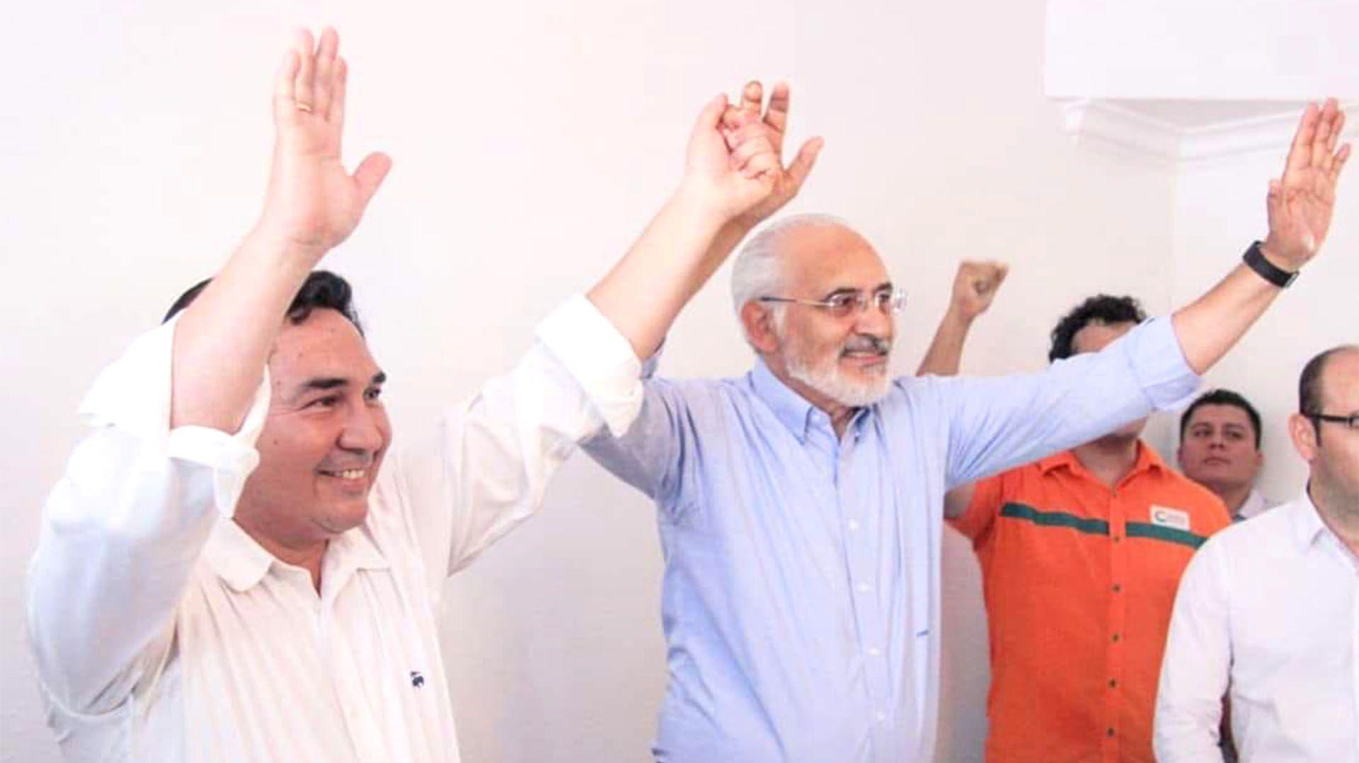 Mesa recibe el respaldo del alcalde de San José de Chiquitos y candidato a gobernador de Santa Cruz, Germain Caballero