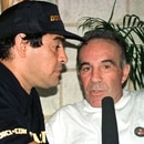 05/06/2000 09:00 PEOPLE MARADONA DIEGO MARADONA WITH PERSONAL DOCTOR IN HAVANA. TO GO WITH STORY PEOPLE-MARADONA BY ANDREW CAWTHORNE - Argentine soccer idol stages a mock
