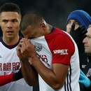 Soccer Football - Premier League - Everton vs West Bromwich Albion - Goodison Park, Liverpool, Britain - January 20, 2018 West Bromwich Albion's Kieran Gibbs consoles Salomon Rondon after his challenge led to an injury to Everton's James McCarthy (not pictured) REUTERS/Andrew Yates EDITORIAL USE ONLY. No use with unauthorized audio, video, data, fixture lists, club/league logos or