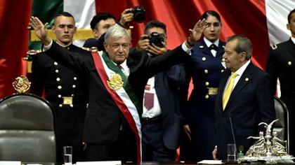 Hace exactamente dos años, Andrés Manuel López Obrador, presidente de México, realizó una protesta (Foto: Kurtoscuro)