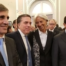 Caputo dujovne Lagarde en el G20 en Washington (2)