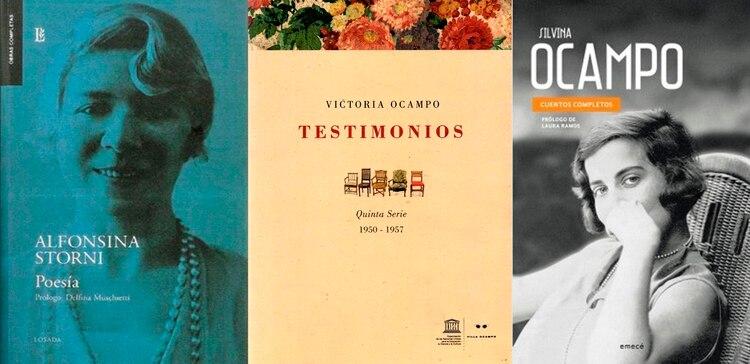 Poesía, de Alfonsina Storni / Testimonios, de Victoria Ocampo / Cuentos completos I, de Silvina Ocampo