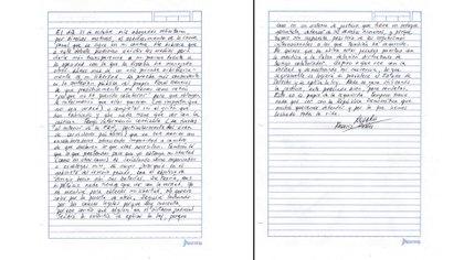 Carta de Rosario Robles (Foto: Twitter  @azucenau)