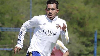 Carlos Tevez, presente en la práctica de Boca