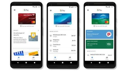 Foto de una versión de Google Pay