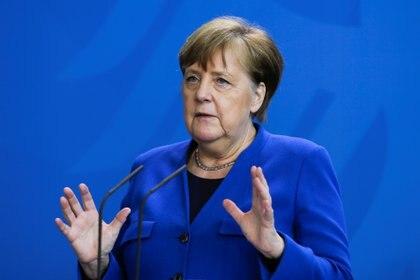 Angela Merkel, en conferencia de prensa (Reuters)